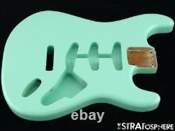 NEW Replacement BODY for Fender Stratocaster Strat, Roasted Ash, Surf Green