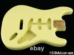 NEW Replacement BODY for Fender Stratocaster Strat, Roasted Ash, Vintage White
