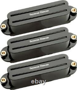 NEW Seymour Duncan Hot Rails for Strat PICKUP SET for Fender Stratocaster Black