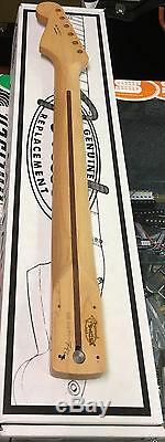 New Genuine Fender Stratocaster Maple Guitar Neck Strat Medium Jumbo Frets