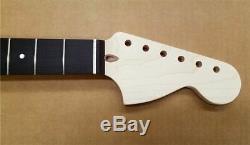 New UNFINISHED Maple Strat Neck with Ebony fretboard, Large Headstock. ACG-SEUBH