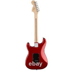 Squier Affinity HSS Stratocaster Electric Guitar Candy Apple Red + Fender Play