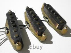 Stratocaster RELIC 68 / 69 Pickups SET HandWound Fender 1969 Vintage Strat AGED