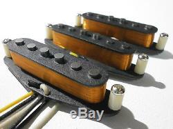 Stratocaster VINTAGE CORRECT 50s 60s Pickups SET HandWound Strat Guitar Fender Q