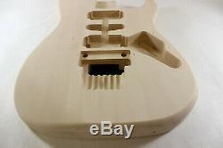 Unfinished Basswood Green Meanie Body- Fits Fender (tm) Strat Stratocaster Necks