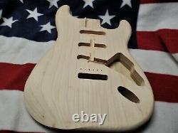 Unfinished Fender Lic. Strat /Stratocaster USA made 63 Vintage Spec. Poplar Body