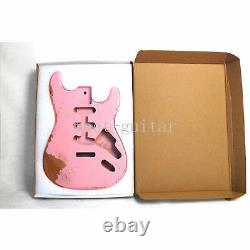 Vintage Pink Electric Guitar Body SSS for Fender Stratocaster Replacement Relic