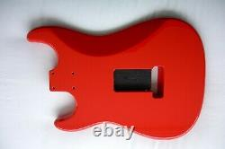 1-piece Strat Corps / Aulne / Candy Pomme Rouge Rouge / Stratocaster- Convient Fender