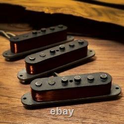 1967 Vintage Ensemble De Ramassage De Remplacement Ajustement Stratocaster Fender