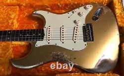 2021 Fender'60 Stratocaster Relique Lourde Aztec Or Custom Shop Strat 7,5lb