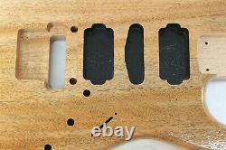 Acajou Hsh Corps De Guitare S'adapte Fender Strat Stratocaster Cou Floyd Rose J283