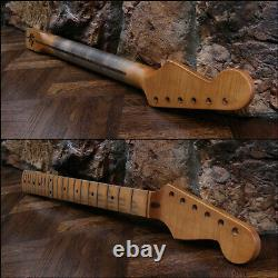 Agé Allparts Strat Neck Nitro Relic Lic. Fender Stratocaster Smo-21 S'adapte À Mjt