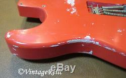 Aged Corps Relic Stratocaster Nitro Chargé Legers Aulne Fender'65 Chiots Fiesta Red