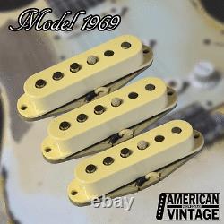 American Vintage Modèle 1969 Set De Ramassage De Remplacement De Fender Stratocaster
