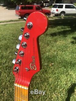 Blair Personnalisé Guitare Rouge Relic Guitare
