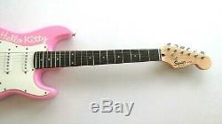 Bonjour Kitty Rose Fender Squire Stratocaster Guitare Électrique Japon 6 Cordes Mini