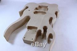 Corps En Tilleul Flamme Guitare Fender Strat Convient Stratocaster + Ofr P126