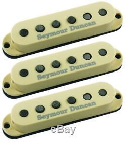Crème Set Fender Stratocaster Ssl-1 Remplacement De Seymour Duncan Californie 50