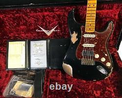 Fender 1969 Stratocaster Hss Heavy Relic Modern Specs Black Finish Custom Shop