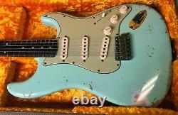 Fender 2020 1960 Stratocaster Heavy Relic Surf Green Custom Shop Strat 7.6lbs