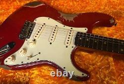 Fender 2020 Stratocaster Heavy Relic Dakota Red Custom Shop Strat 7,7 Lb