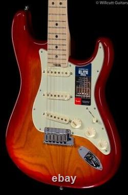 Fender American Elite Stratocaster Vieilli Cerise Maple Burst (636)
