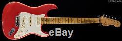 Fender Custom Shop 2017 Namm Limitée Stratocaster D-mag Aged Fiesta Red (079)