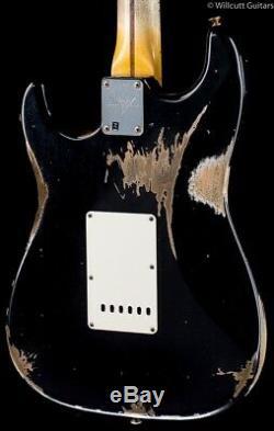 Fender Custom Shop Stratocaster 2019'59 Lourd Relic Vieilli Noir (873)