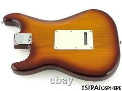 Fender Deluxe Hss Stratocaster Strat Loaded Body 2 Point Bruitless S-1 Tabac
