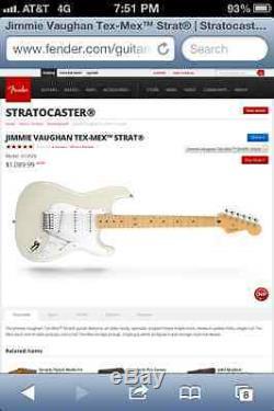 Fender Guitare Électrique Jimmie Vaughan (tout Neuf Avec Le Sac De Guitare)