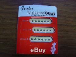 Fender Hot Noiseless Strat Set De Ramassage De Remplacement Stratocaster Jeff Beck Nouveau