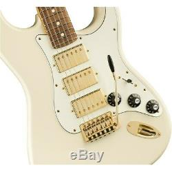 Fender Limited Edition Acajou Blacktop Stratocaster Hhh Guitare, Blanc Olympique