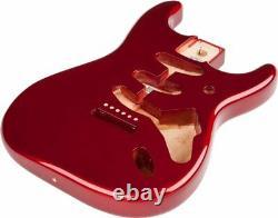 Fender Mexico Stratocaster Sss Vintage Bridge Mount Alder Body, Candy Apple Red