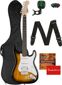 Fender Squier Bullet Stratocaster Hss Hard Tail Brown Sunburst Avec Gig Bag