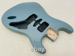 Fender Squier Hardtail Fat Strat Sonic Grey Body Ht Electric Guitar Stratocaster