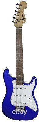 Fender Squier Mini Strat Electric Guitar Imperial Blue Avec Amplificateur