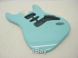 Fender Squier Strat Hardtail Stratocaster Body Turquoise Tropical Guitar Ht