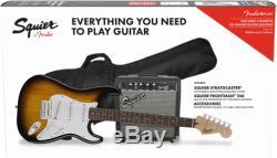 Fender Squier Stratocaster Sunburst Pack Avec Frontman 10g Amplificateur