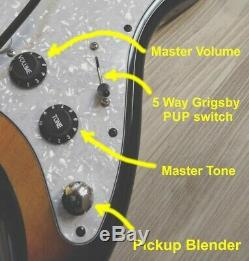 Fender Squier Stratocaster Turbocompressé Withblender Mod Sunburst Strat Sss