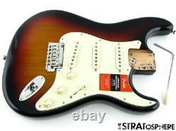 Fender Stratocaster American Professional Chargé Du Corps Strat USA 3t Sunburst