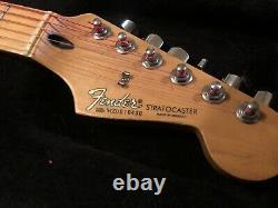Fender Stratocaster Electric Guitar Hss Burnt White Custom Pièces Rares