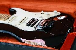 Fender Stratocaster John Cruz Masterbuilt 1966 Noir / Shell Rose Relic Floyd Rose