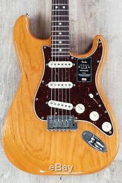 Fender Stratocaster Ultra-américain Avec Le Cas, Le Conseil Rosewood, Vieilli Naturel