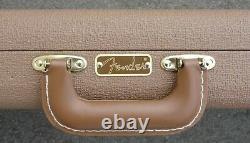 Fender Stratocaster/telecaster Case 60's Brown Tolex With Orange Satin Int Nouveau