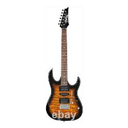 Ibanez Grx70qa Gio 6 String Solid Body Electric Guitar Main Droite Sunburst