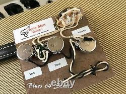 Le Blues 64 Strat Prewired Vintage Kit De Câblage S'adapte À Fender Stratocaster