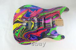 Le Corps De Guitare Alder Hss S'adapte Au Manche Fender Strat Stratocaster Floyd Rose J307