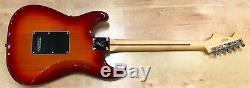 Lecteur Fender Stratocaster Série Plus Haut Aged Cerise Burst Flame Maple