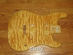 Mighty Mite Body S'adapte Fender Stratocaster 2 3/16ème Guitare Neck Natural Quilt Top