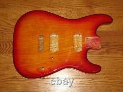 Mighty Mite Cordy Fits Fender Stratocaster 2 3/16ème Guitar Neck Cherry Burst Ash
